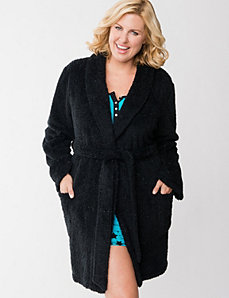 Sparkle fleece robe by LANE BRYANT