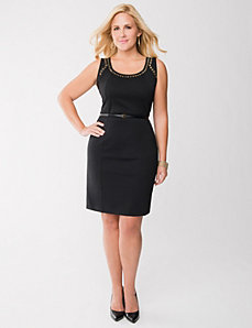 Grommet sheath dress by LANE BRYANT
