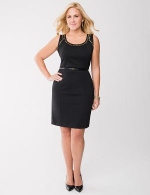 Grommet sheath dress