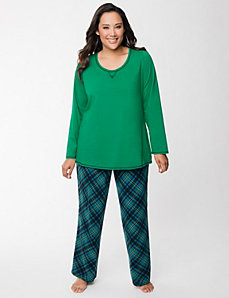 Plaid PJ set by LANE BRYANT