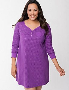 Shimmer dot sleep shirt by LANE BRYANT