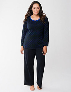Polka dot PJ set by LANE BRYANT