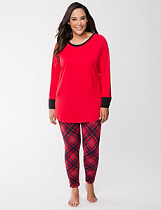 Plaid legging PJ set by LANE BRYANT