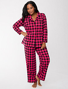 Checkered PJ set by LANE BRYANT