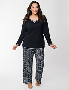 Drink print PJ set by LANE BRYANT