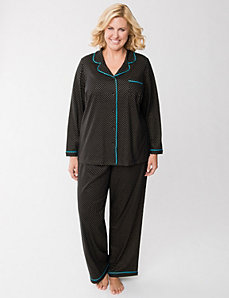 Shimmer dot PJ set by LANE BRYANT