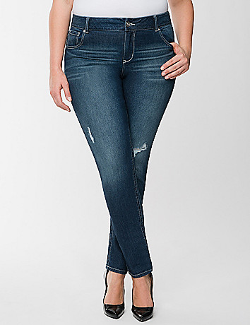 Genius Fit embroidered skinny jean