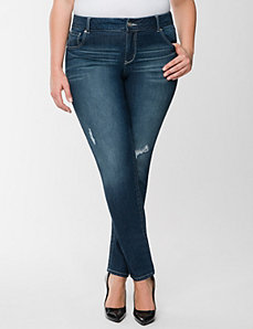 Genius Fit™ embroidered skinny jean