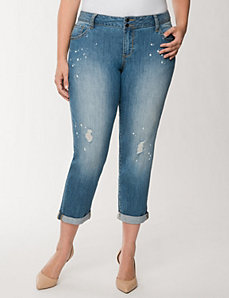 Distressed Weekend Jean by LANE BRYANT
