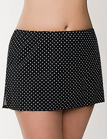 Polka dot swim skirt