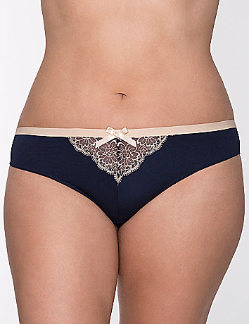 Embroidered tanga panty