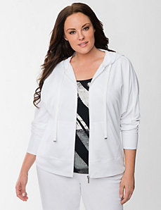 Washed French terry hoodie by LANE BRYANT