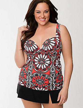 Medallion swim tank with built in balconette bra