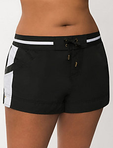 Board short with racing stripe by LANE BRYANT