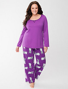 Yorkie 2-piece PJ set by LANE BRYANT