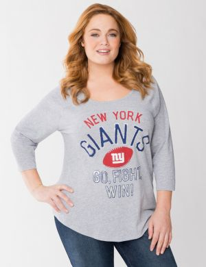 New York Giants 3/4 sleeve tee