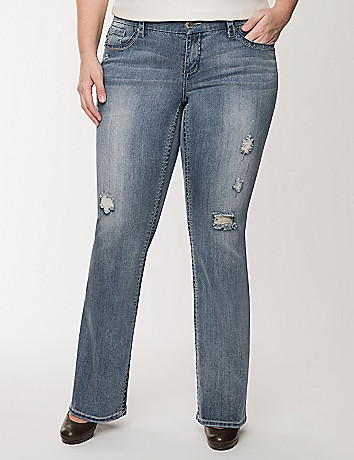 Destructed bootcut jean by Seven7