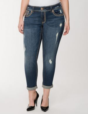 Skinny rolled cuff ankle jean by Seven7