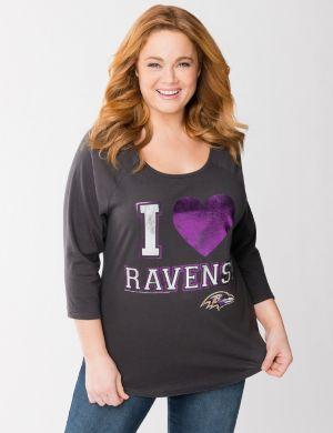 Baltimore Ravens 3/4 sleeve tee