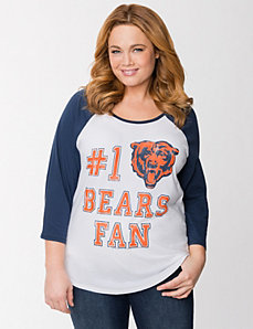 Chicago Bears 3/4 sleeve tee by LANE BRYANT