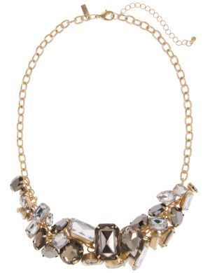 Mixed stone cluster necklace by Lane Bryant