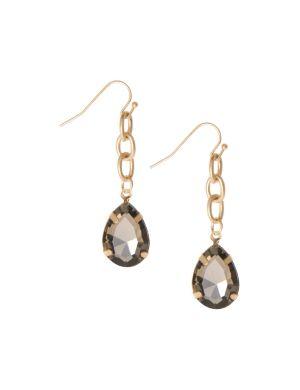Teardrop chain earrings by Lane Bryant