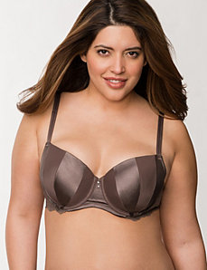 Matte & shine balconette bra by LANE BRYANT