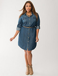 Denim shirt dress by LANE BRYANT