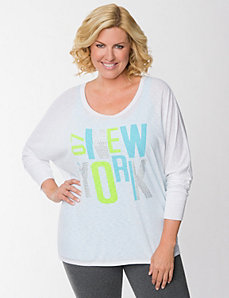 NYC embellished dolman top by LANE BRYANT