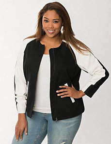 Canvas baseball jacket by LANE BRYANT