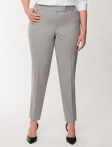 Lena Tailored Stretch double stripe ankle pant by LANE BRYANT