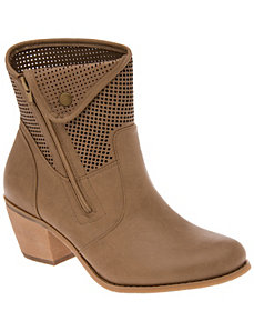 Perforated ankle boot by LANE BRYANT