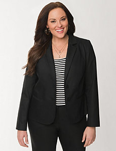 Double weave fitted jacket by LANE BRYANT