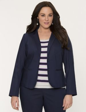Double weave fitted jacket