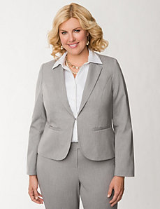 Tailored Stretch double stripe jacket by LANE BRYANT