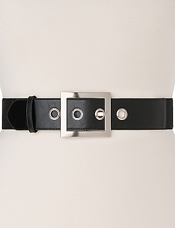 Grommet stretch belt