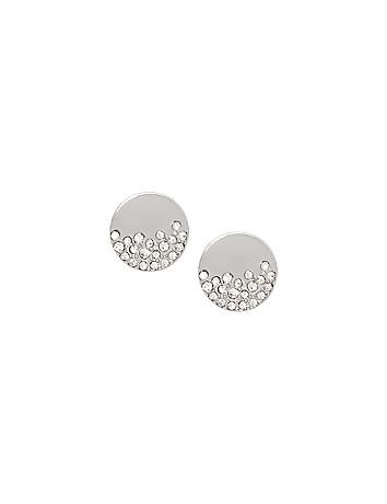 Cubic zirconium disc earrings by Lane Bryant