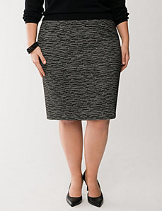 Digital dash ponte pencil skirt