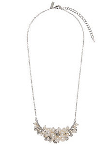Faux pearl cluster necklace by Lane Bryant