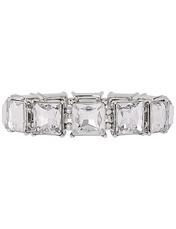 Square stone stretch bracelet by Lane Bryant