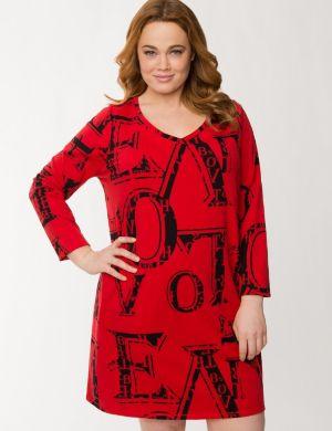 Love lace back sleep shirt