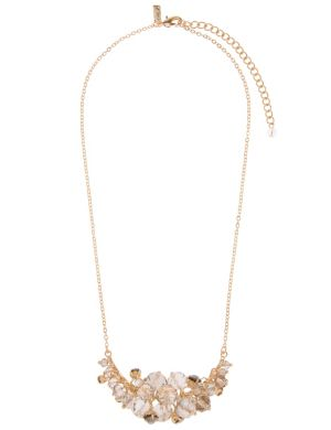 Faceted bead cluster necklace by Lane Bryant