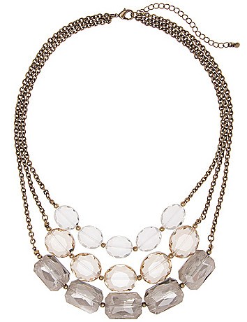 Nested glass stone necklace by Lane Bryant