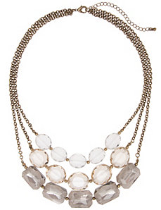 Nested glass stone necklace by Lane Bryant by LANE BRYANT