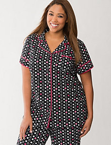 Heart print PJ top by LANE BRYANT