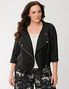 Lane Collection light moto jacket by LANE BRYANT
