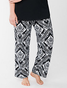 Diamond scroll sleep pant by LANE BRYANT
