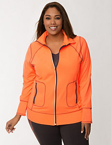 TruDry full zip active jacket by LANE BRYANT