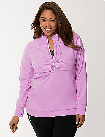 Plus Size TruDry Half Zip Jacket by Lane Bryant