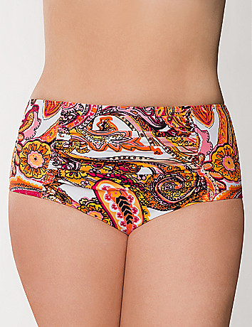 Scarf print bikini bottom